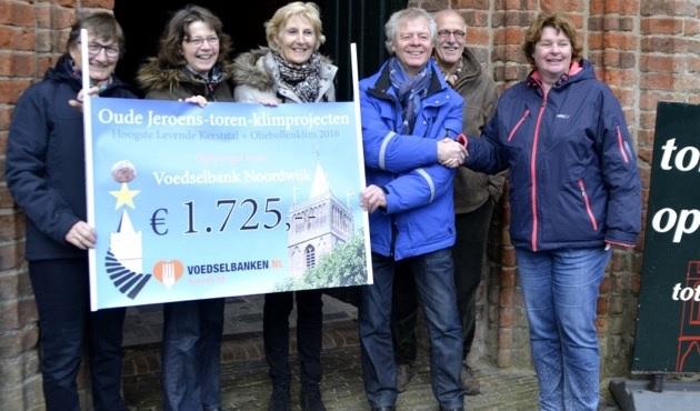 € 1.725.= voor de Voedselbank Noordwijk
